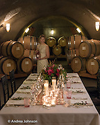 Archery Summit Valentines Day dinner inside the Caves, Dundee, Willamette Valley, Oregon