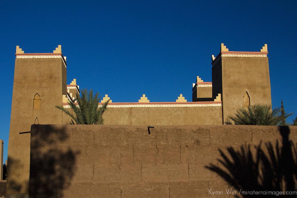 Africa, Morocco, Skoura. Moroccan Desert Kasbah.