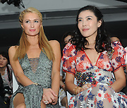 "SHANGHAI, CHINA - JUNE 13: (CHINA OUT) <br /> <br /> American model and actress Paris Hilton (L) and Su Mang, president and CEO of Trends Media Group and editor-in-chief of Chinese Bazaar, attend a ""Fashion Up\"" activity on June 13, 2016 in Shanghai, China. ©Exclusivepix Media"