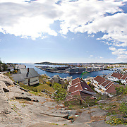 Panorama over Kristiansand photographed from Hamreheia in 2011 taken from several photos stitched together.