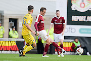 Northampton Town midfielder Matt Taylor (31) looks to release the ball  during the EFL Sky Bet League 1 match between Northampton Town and Bristol Rovers at Sixfields Stadium, Northampton, England on 1 October 2016. Photo by Dennis Goodwin.