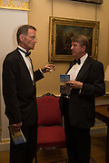 SIR NICHOLAS SEROTA; BRIAN ALLEN, Professor Mikhail Piotrovsky Director of the State Hermitage Museum, St. Petersburg and <br /> Inna Bazhenova Founder of In Artibus and the new owner of the Art Newspaper worldwide<br /> host THE HERMITAGE FOUNDATION GALA BANQUET<br /> GALA DINNER <br /> Spencer House, St. James's Place, London<br /> 15 April 2015