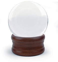 Crystal ball on white background