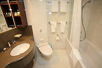 The launch of Royal Caribbean International's Oasis of the Seas, the worlds largest cruise ship..Staterooms.Presidential suite, bathroom