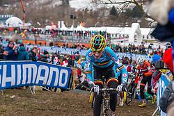 Jarne Driesen (BEL), Men Juniors, Cyclo-cross World Championship Tabor, Czech Republic, 31 January 2015, Photo by Pim Nijland / PelotonPhotos.com