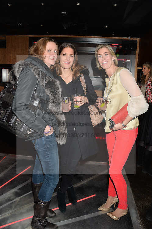 Left to right, SALLY DUCKWORTH, CATHERINE QUANTSCHNIGG and MUFFIN HURST at a party in aid of the Youth at Risk charity held at Raffles, 287 King's Road, London on 27th November 2013.