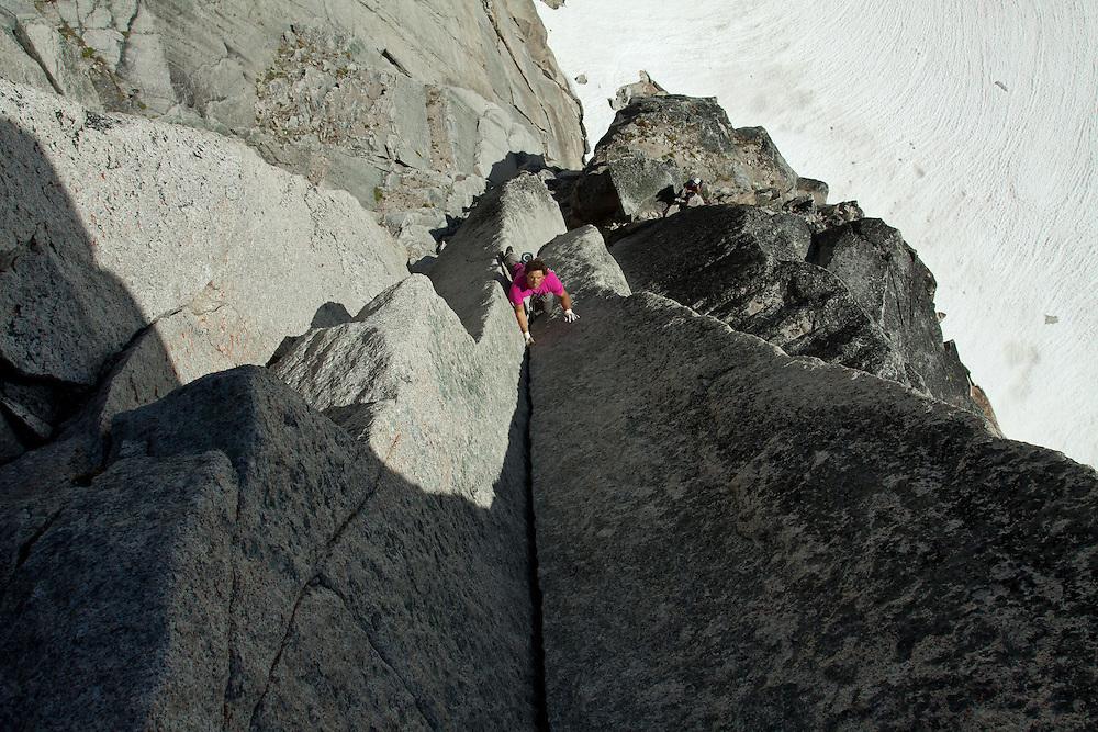 Trask Bradbury Alpine Rock Climbing McTech Arete Bugaboo Provincial Park