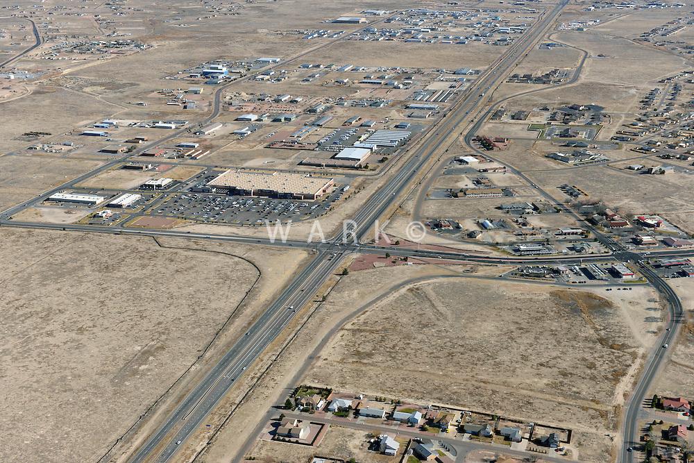 Aerial of Pueblo West, Highway 50 and McCulloch Blvd.  Dec 1, 2012