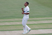 Ben Mike bowling during the Specsavers County Champ Div 2 match between Gloucestershire County Cricket Club and Leicestershire County Cricket Club at the Cheltenham College Ground, Cheltenham, United Kingdom on 16 July 2019.