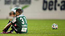 23.09.2014, Keine Sorgen Arena, Ried im Innkreis, AUT, OeFB Samsung Cup, 2. Runde, SV Josko Ried vs RZ Pellets WAC, im Bild Denis Thomalla, (SV Josko Ried, #31) enttaeuscht nach dem Spiel am Boden // during OeFB Cup, 2nd round, between SV Josko Ried and RZ Pellets WAC at the Keine Sorgen Arena, Ried im Innkreis, Austria on 2014/09/23. EXPA Pictures © 2014, PhotoCredit: EXPA/ Roland Hackl