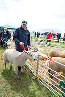 "John Lynch from Ballinalee Longford with his Vedeen snr winning Ram at Sheep 2012 ""The Way Forward""  at Teagasc, Mellows Campus, Athenry, Co. Galway Photo: Andrew Downes.."