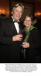 MR & MRS MICHAEL MANSFIELD, he is the QC at a dinner in London on 2nd February 2001.OKZ 82