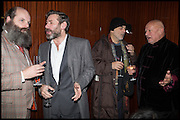 GAVIN TURK; MAT COLLISHAW; RON ARAD; STEVEN BERKOFF, Liberatum Cultural Honour for Francis Ford Coppola<br /> with Bulgari Hotel & Residences, London. 17 November 2014