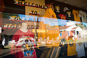 Grambling State University apparel displayed in a storefront across the street from the university in Grambling, Louisiana on October 23, 2013.  (Cooper Neill for The New York Times)