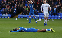 Ivan Toney of Peterborough United lays on the floor dejected after missing a chance to score - Mandatory by-line: Joe Dent/JMP - 16/03/2019 - FOOTBALL - ABAX Stadium - Peterborough, England - Peterborough United v Coventry City - Sky Bet League One
