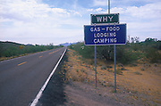 Outside Why, Arizona near the Organ Pipe Cactus National.Monument. 2000.