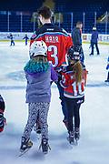 KELOWNA, CANADA - FEBRUARY 18:  Kelvin Hair #3 of the Kelowna Rockets at the BCAA Family Skate with the Kelowna Rockets on February 18, 2018 at Prospera Place in Kelowna, British Columbia, Canada.  (Photo By Cindy Rogers/Nyasa Photography,  *** Local Caption ***