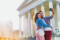 Portrait of Man taking selfie with his girlfriend
