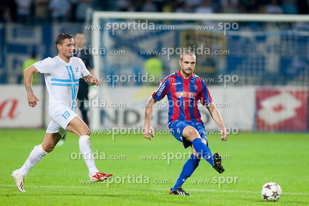 Leon Benko #19 of HNK Rijeka during football match between HNK Rijeka and HNK Hajduk Split in 11th Round of Prva Hrvaska Nogometna Liga MaxTV 2013/14 on September 28, 2013 in Stadion Kantrida, Rijeka, Croatia. (Photo By Urban Urbanc / Sportida.com)