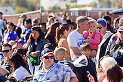 03 JANUARY 2009 -- PHOENIX, AZ: The crowd watches the annual Ft. McDowell Fiesta Bowl parade through Phoenix, AZ. More than 150,000 spectators line the parade routes which starts in north Phoenix and winds down Central Ave and 7th Street before ending in central Phoenix. More than 100 units march in the parade.  PHOTO BY JACK KURTZ