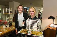 Nederland, Gorinchem, 20151204.<br /> Opening conceptstore Ny B&ouml;rjan van Desiree en Dion Kradolfer.<br /> met schilderijen van Evalore Beukers<br /> <br /> Netherlands, Gorinchem, 20151204.