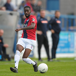 TELFORD COPYRIGHT MIKE SHERIDAN Adriano Moke during the National League North fixture between AFC Telford United and York City at the New Bucks Head on Saturday, October 12, 2019.<br /> <br /> Picture credit: Mike Sheridan<br /> <br /> MS201920-025