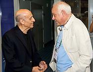 Julio Maglione FINA President and Consolo Bartolo<br /> FINA/NVC Diving World Series 2016 Dubai<br /> Hamdan Sport Complex -Dubai United Arab Emirates U.A.E. UAE<br /> March 17 -19 2016<br /> Day 2 March 17th<br /> Photo G.Scala/Insidefoto/Deepbluemedia