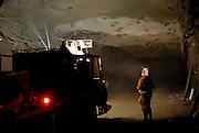 Fibrecrete is applied to prepare walls for Bolting Olympic Dam Copper/Uranium Mine