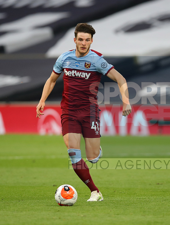 West Ham's Declan Rice during the Premier League match at the Tottenham Hotspur Stadium, London. Picture date: 23rd June 2020. Picture credit should read: David Klein/Sportimage