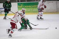 Bernard Jaka of HK Olimpija during Ice Hockey match between HK SZ Olimpija and EC KAC II during 1st round of Alps Hockey League 2019/20, on September 14, 2019, in Hala Tivoli, Ljubljana, Slovenia. Photo by Grega Valancic