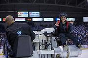 KELOWNA, CANADA - MARCH 14:  Orchard Park Zamboni Rider at the Kelowna Rockets game on March 14, 2018 at Prospera Place in Kelowna, British Columbia, Canada.  (Photo By Cindy Rogers/Nyasa Photography,  *** Local Caption ***