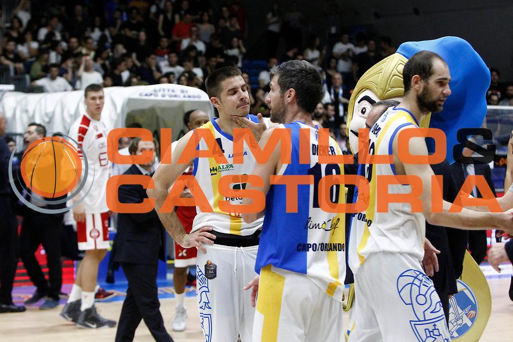 delusione Orlandina Tepic<br />Betaland Capo D'Orlando Vs EA7 Emporio Armani Olimpia Milano<br />Playoff Gara 4<br />LegaBasket 2016/2017<br />Capo d&rsquo;Orlando 18/05/2017<br />Foto Ciamillo-Castoria