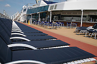Celebrity Silhouette. Celebrity cruises' new ship launched in Hamburg 21st July 2011..Interior feature photos..Sun deck.