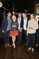 Left to right, JORDAN STEPHENS, BILLIE JD PORTER, PJ EARLE, JACK FOX and JONATHAN MITCHELL at a party hosted by Christian Lacroix partnered with Supa Model Management to celebrate London Men's Collections January 2015, held at the Rumpus Room, the roof top bar at the top of the Mondrian London, 20 Upper Ground, London SE1 on 12th January 2015.