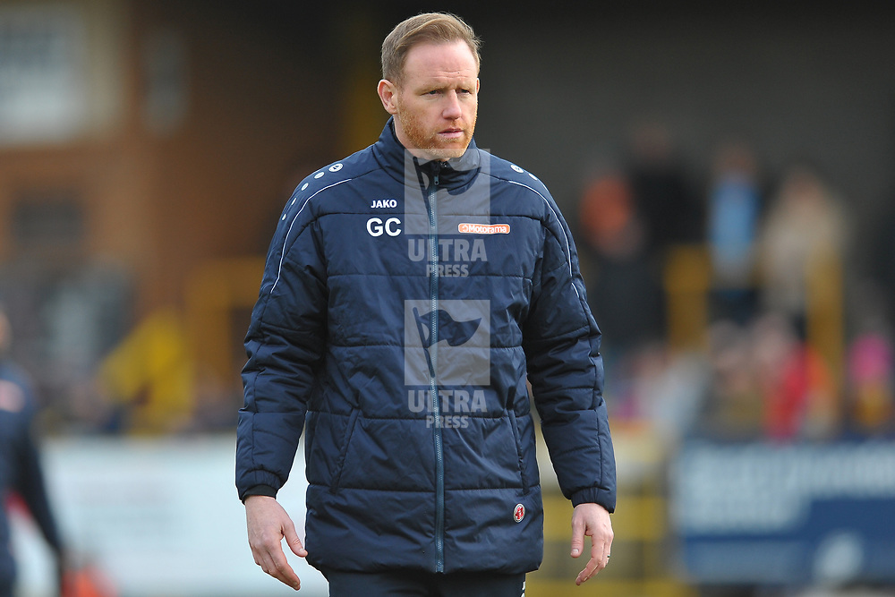 TELFORD COPYRIGHT MIKE SHERIDAN Gavin Cowan  during the Vanarama Conference North fixture between Boston and AFC Telford United at the Jakemans Stadium, York Street on Saturday, February 22, 2020.<br /> <br /> Picture credit: Mike Sheridan/Ultrapress<br /> <br /> MS201920-047