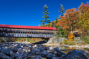 Albany Covered Bridge spanning the Swift River, Albany, New Hampshire, USA.