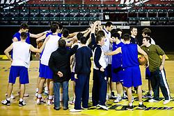 Team of Olimpija at training session of KK Union Olimpija, on November 24, 2009, in Arena Tivoli,  Ljubljana, Slovenia.   (Photo by Vid Ponikvar / Sportida)