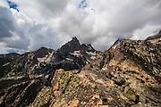 View of Nez Perce mountain, 3000m up inGrand Teton National Park, near Amphitheatre Lake, Wyoming,