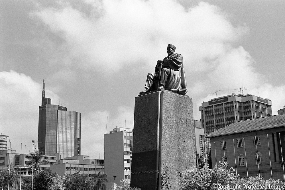 Jomo Kenyetta was the first president of independent Kenya. The statue at the KANU headquarters and Convention Centre is a popular attraction as Kenyetta is still respected. KANU is the political party the held power until recently.