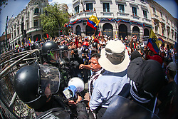 May 1, 2019 - Quito, Ecuador - People take part in the annual May Day procession in support of workers' rights, in Quito, Ecuador, on May 1, 2019. - May Day has been an international workers' celebration for more than 130 years. (Credit Image: © Rafael Rodriguez/NurPhoto via ZUMA Press)