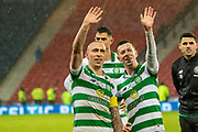 Celtic Captain Scott Brown & Team mate Callum McGregor of Celtic FC during the Betfred Scottish League Cup Final match between Rangers and Celtic at Hampden Park, Glasgow, United Kingdom on 8 December 2019.