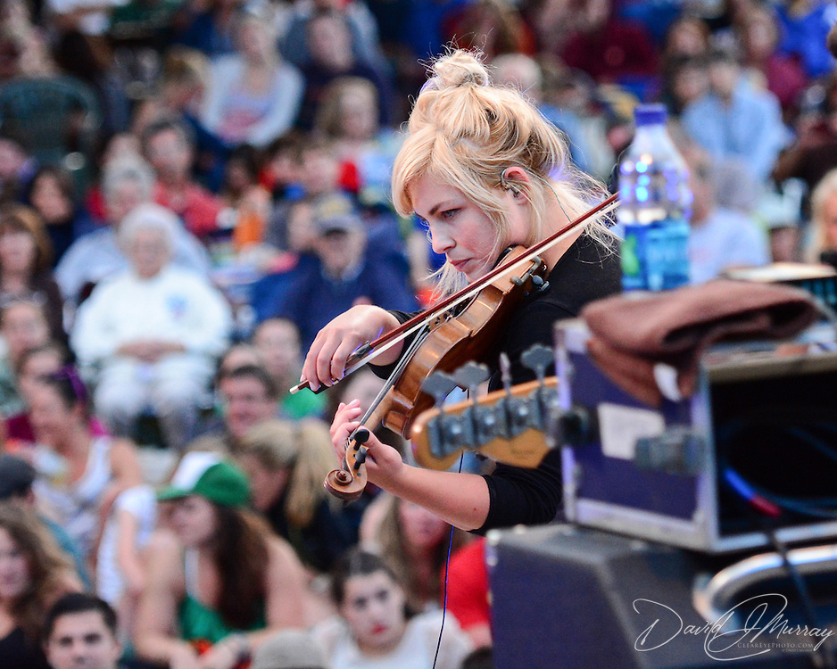 Charity Rose Thielen, of The Head and the Heart, performs in a Prescott Park Arts Festival presentation at Prescott Park in Portsmouth, NH, in July 2013