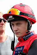 Jockey CIEREN FALLON before winning The William Hill Portland Handicap Stakes over 5f (£60,000) on OXTED during the fourth and final day of the St Leger Festival at Doncaster Racecourse, Doncaster, United Kingdom on 14 September 2019.