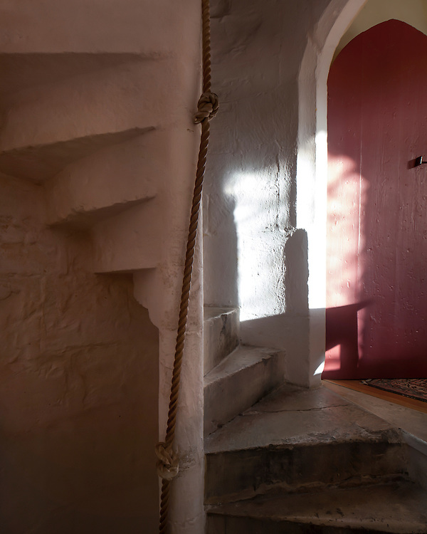 Spiral Staircase at Cawood Castle cared for by the Landmark Trust