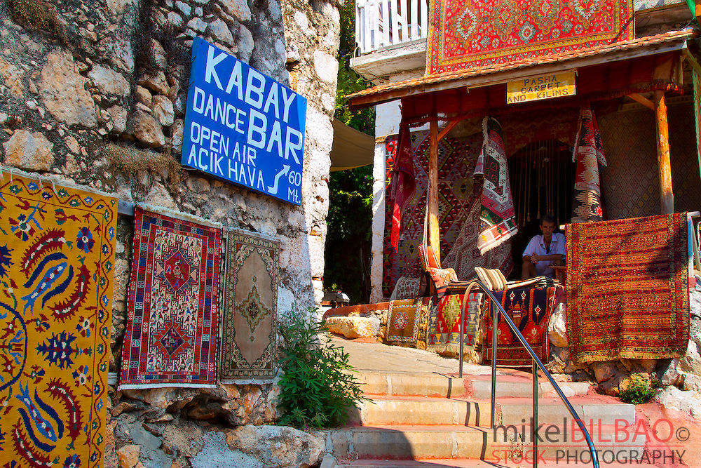 Street view.Ucagiz. Province of Antalya. Mediterranean coast. Turkey
