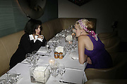 Bianca Jagger and Maggie Grace ,  Natalia Vodianova and Elle Macpherson host a dinner in honor of Francisco Costa (creative Director for women) and Italo Zucchelli (creative director for men)  of Calvin Klein. Locanda Locatelli, 8 Seymour St. London W1. ONE TIME USE ONLY - DO NOT ARCHIVE  © Copyright Photograph by Dafydd Jones 66 Stockwell Park Rd. London SW9 0DA Tel 020 7733 0108 www.dafjones.com