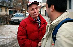 PRISTINA, KOSOVO - DECEMBER 14 - Srb, ki zivi v Pristini se pritozuje nad slabim zivljenjem sredi Albancev.