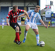 Dundee's Greg Stewart and St Johnstone&rsquo;s Frazer Wright - Dundee v St Johnstone, SPFL Premiership at Dens Park <br /> <br />  - &copy; David Young - www.davidyoungphoto.co.uk - email: davidyoungphoto@gmail.com