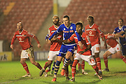 Jim McNulty, Rico Henry during the Sky Bet League 1 match between Walsall and Rochdale at the Banks's Stadium, Walsall, England on 2 January 2016. Photo by Daniel Youngs.