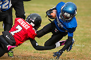 Huguenot, New York - Middletown plays Port Jervis in an Orange County Youth Football League Division II game on Oct.24, 2015.